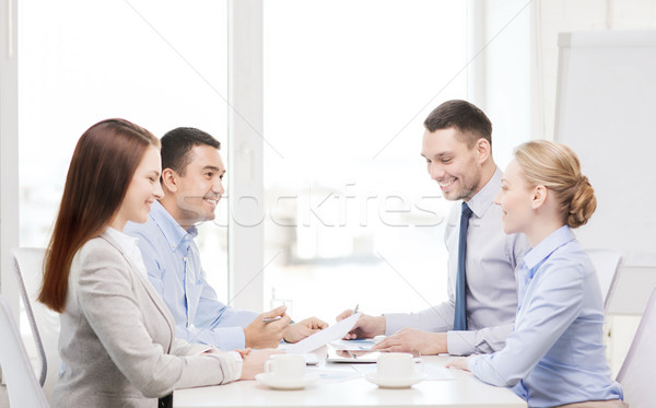 business team having meeting in office Stock photo © dolgachov