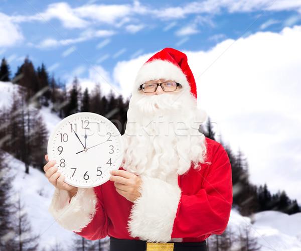 Photo stock: Homme · costume · horloge · Noël · vacances