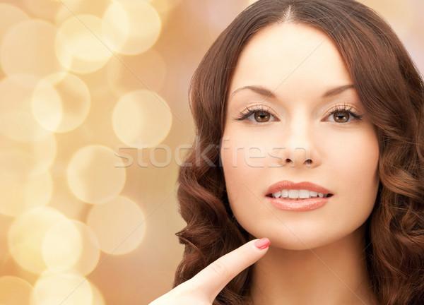 Bella punta dito mento bellezza Foto d'archivio © dolgachov