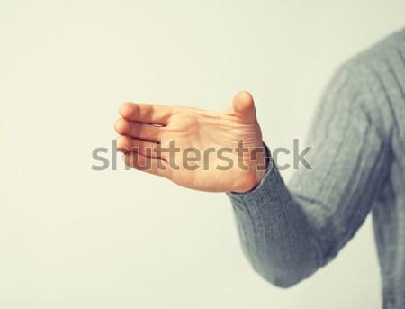 Man denkbeeldig object heldere foto Stockfoto © dolgachov