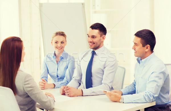 Business team aanvrager kantoor business interview werk Stockfoto © dolgachov