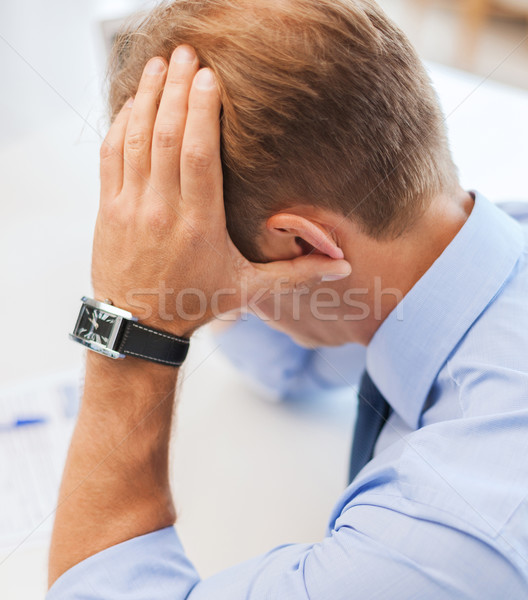 stressed businessman at work Stock photo © dolgachov