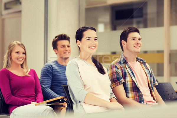 группа улыбаясь студентов лекция зале образование Сток-фото © dolgachov