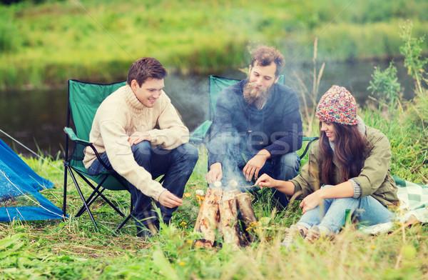 улыбаясь приготовления проскурняк кемпинга Adventure Сток-фото © dolgachov