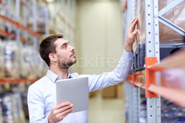 Zakenman magazijn groothandel business exporteren Stockfoto © dolgachov
