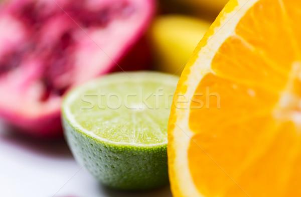 Foto d'archivio: Fresche · succosa · arancione · calce