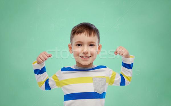 Stok fotoğraf: Mutlu · gülen · küçük · erkek · el