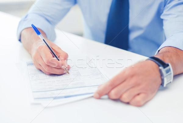男 署名 契約 ビジネス オフィス 学校 ストックフォト © dolgachov