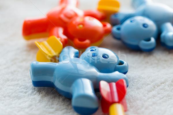 ребенка греметь полотенце детство игрушками Сток-фото © dolgachov