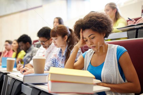 グループ 学生 コーヒー 書く 講義 教育 ストックフォト © dolgachov