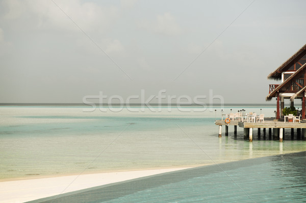 patio or terrace with canopy on beach sea shore Stock photo © dolgachov