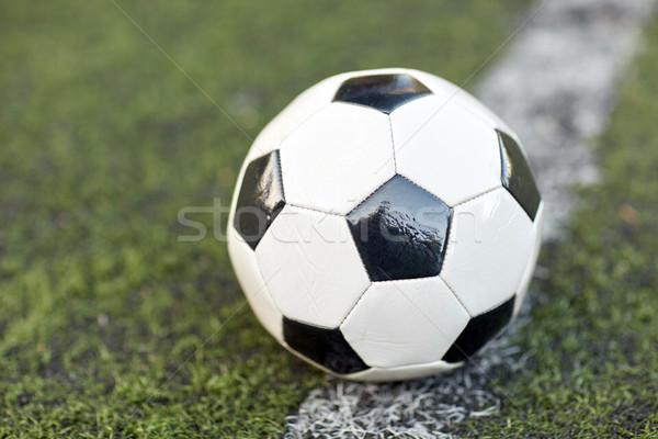 Futballabda futballpálya vonal sport futball játék Stock fotó © dolgachov