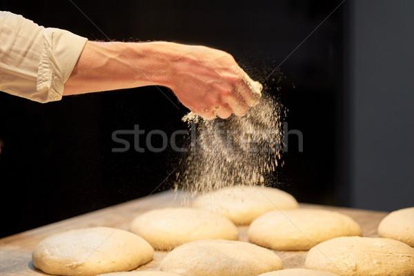 Chef padeiro pão padaria comida Foto stock © dolgachov