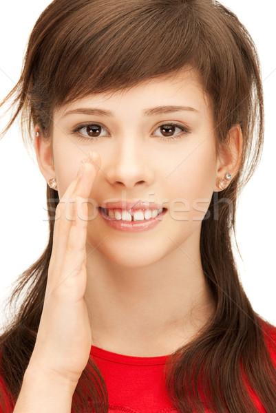 teenage girl whispering gossip Stock photo © dolgachov