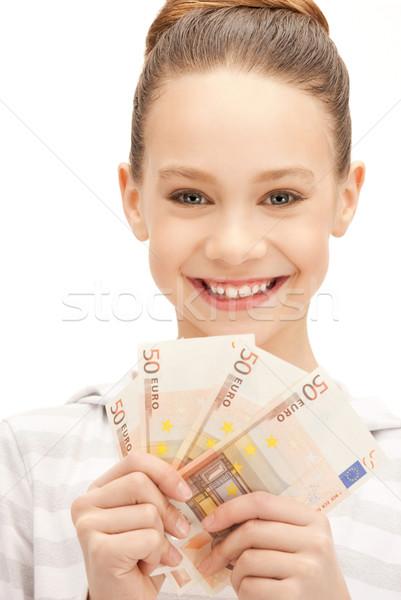 Foto stock: Euro · numerário · dinheiro · quadro · papel