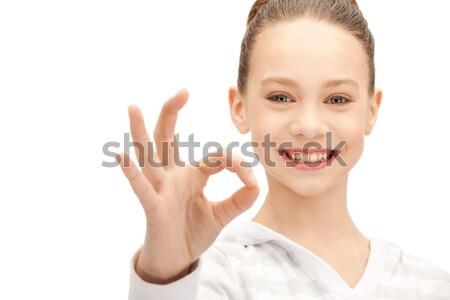 happy teenage girl Stock photo © dolgachov
