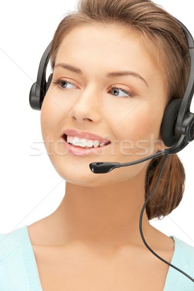 Helpline luminoso foto amichevole femminile operatore Foto d'archivio © dolgachov