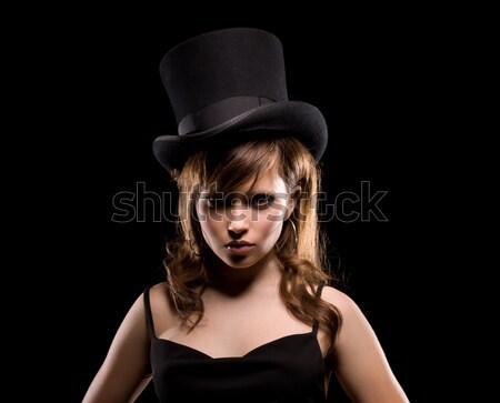 Hermosa top-less mujer Foto desnuda Foto stock © dolgachov