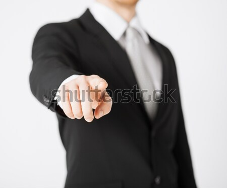 man pointing his finger at you Stock photo © dolgachov