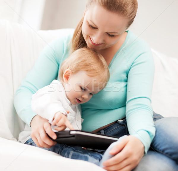 Madre adorable bebé feliz mujer Foto stock © dolgachov