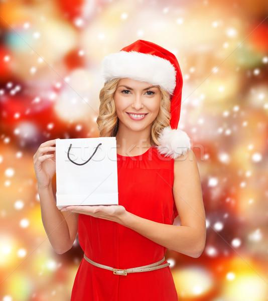 Bolsa Dourada Com Vestido Vermelho : Mulher ? vestido vermelho bolsa de compras