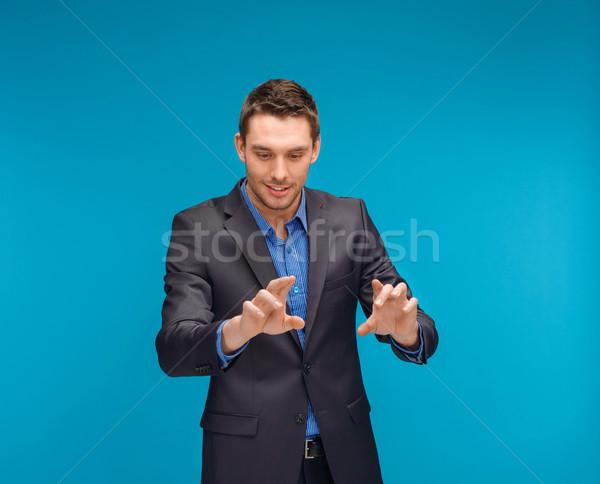 Affaires travail imaginaire écran affaires Photo stock © dolgachov
