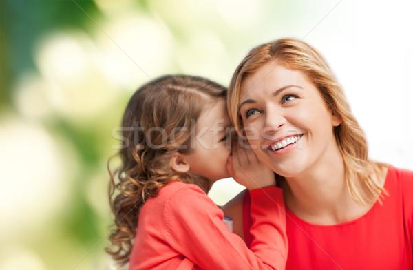 Sonriendo madre hija chismes familia Foto stock © dolgachov