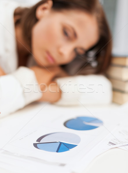 скучно деловая женщина глядя служба бизнеса Сток-фото © dolgachov
