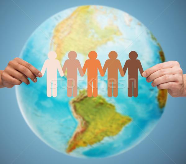 человека рук земле мира люди Сток-фото © dolgachov
