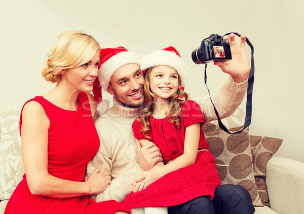 笑みを浮かべて 家族 サンタクロース ヘルパー ストックフォト © dolgachov