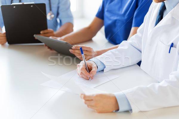 Mutlu doktorlar seminer hastane eğitim Stok fotoğraf © dolgachov