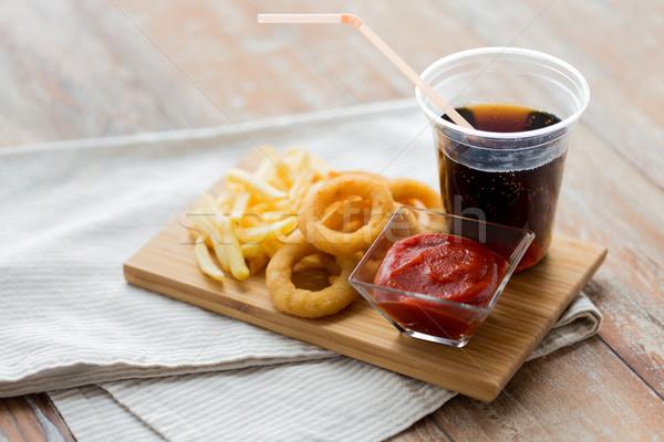 быстрого питания пить таблице нездорового питания Сток-фото © dolgachov