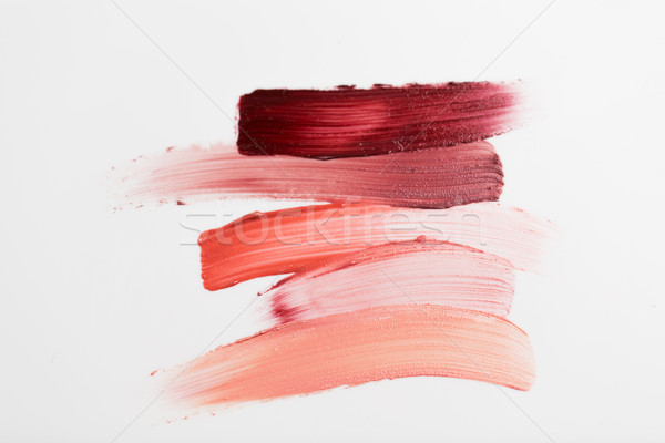 close up of lipstick smear sample Stock photo © dolgachov