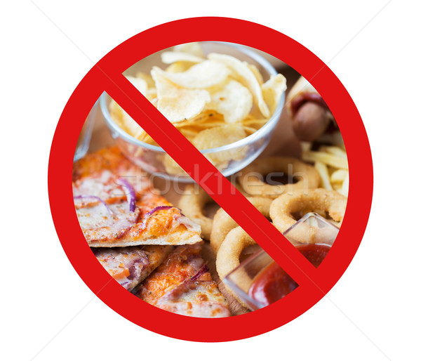 Fast-food lanches atrás não símbolo Foto stock © dolgachov