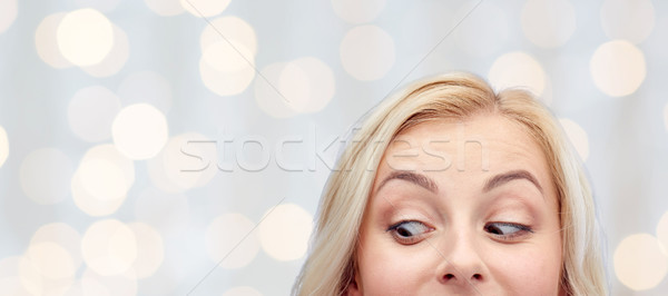 happy young woman or teenage girl face Stock photo © dolgachov