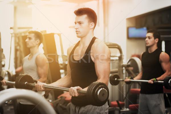 グループ 男性 ジム スポーツ フィットネス ライフスタイル ストックフォト © dolgachov