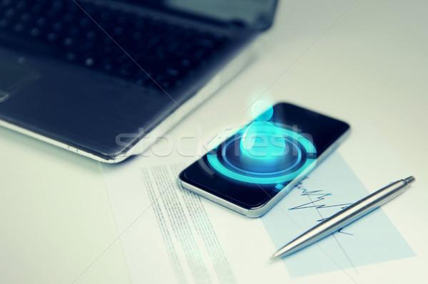смартфон ноутбука пер таблице бизнеса Сток-фото © dolgachov