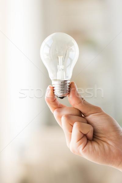 Mano lampada lampadina riciclaggio Foto d'archivio © dolgachov