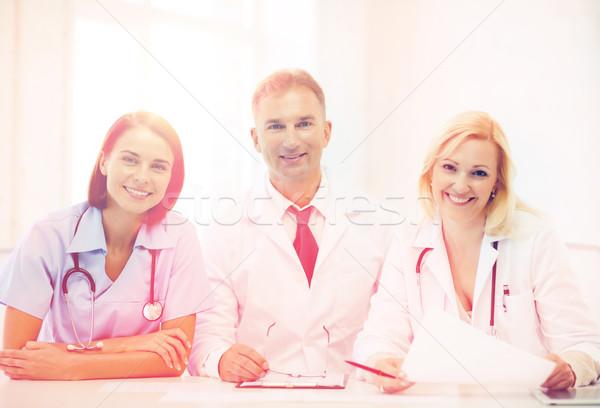 Lekarzy spotkanie opieki zdrowotnej medycznych kobieta muzyka Zdjęcia stock © dolgachov