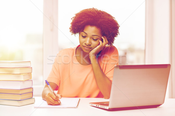 скучно афроамериканец женщину домашнее задание домой люди Сток-фото © dolgachov
