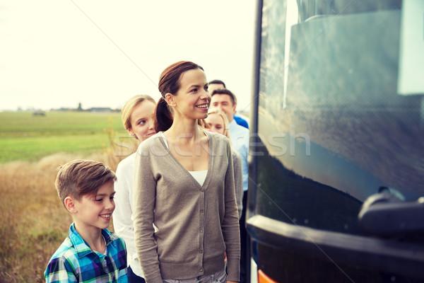 グループ 幸せ 乗客 搭乗 旅行 バス ストックフォト © dolgachov