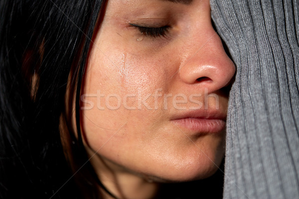 close up of unhappy crying woman Stock photo © dolgachov