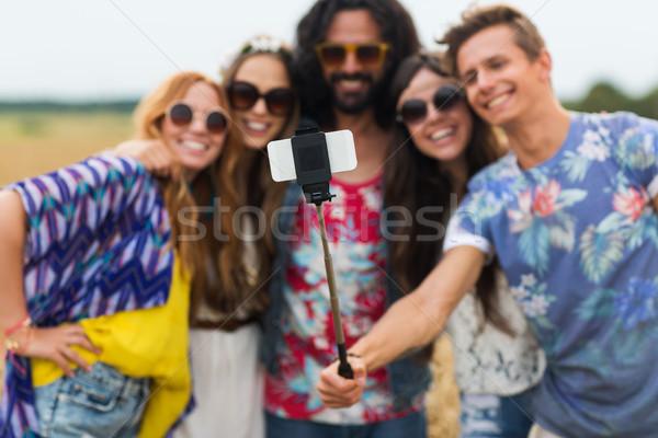 Hippie amigos vara verão tecnologia Foto stock © dolgachov