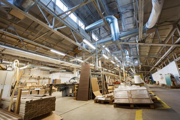 Fabryki warsztaty produkcji przemysłu meble pokój Zdjęcia stock © dolgachov