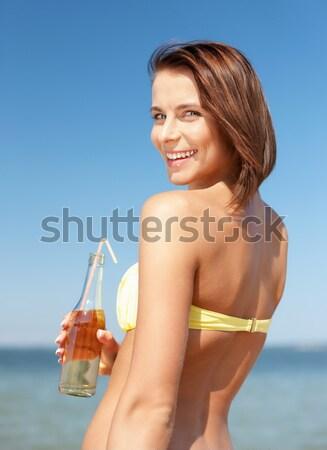 Fiatal szexi nő farmernadrág kép nő szexi Stock fotó © dolgachov