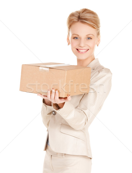 woman with cardboard box Stock photo © dolgachov