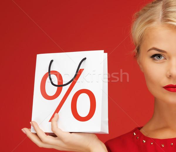 womaС' with shopping bag Stock photo © dolgachov
