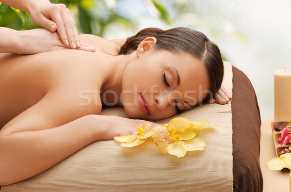Stock photo: woman in spa
