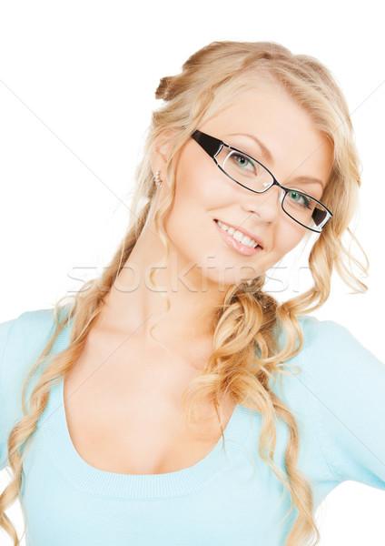 Vrouw bril gezondheid visie mooie Stockfoto © dolgachov