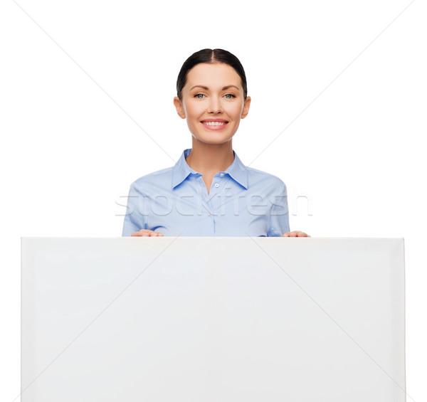 Sorridere imprenditrice bianco bordo business istruzione Foto d'archivio © dolgachov